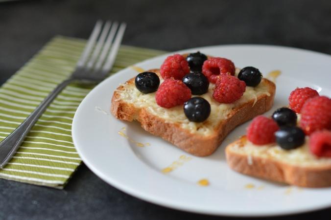 Cheesy Fruit Toast
