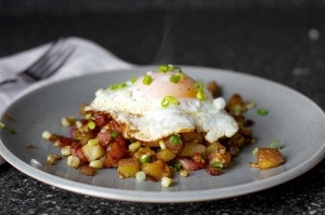 bacon corn hash