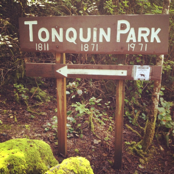 Hiking into Tonquin Park
