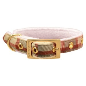 plaid dog collar