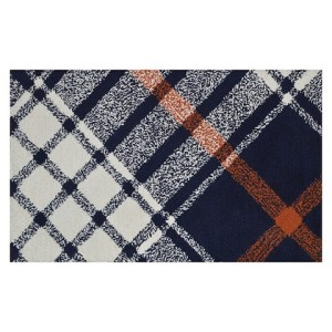 plaid kitchen rug