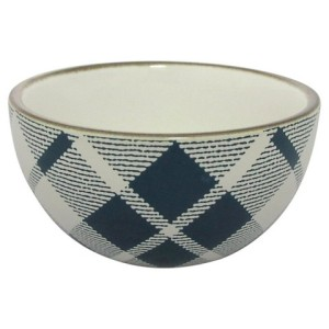 plaid mini bowls