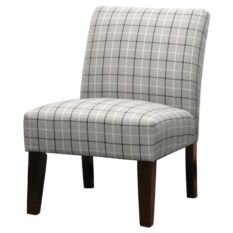 Plaid Slipper Chair 2