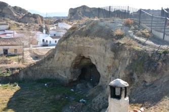 Rustic Cave Post