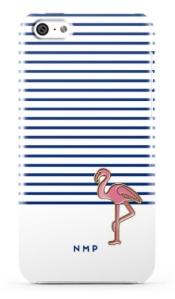 stripe-flamingo-phone-case