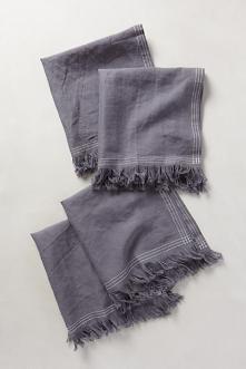 Anthro Stitched Linen